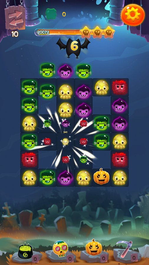 Halloween Monsters II: Match 3 Screenshot #1